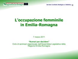 L`occupazione femminile - ER Statistica - Regione Emilia