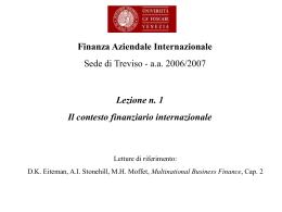 Finanza Aziendale Internazionale