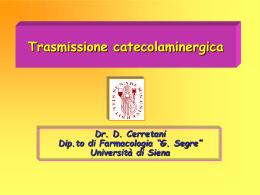 Trasmissione catecolaminergica prof. Micheli