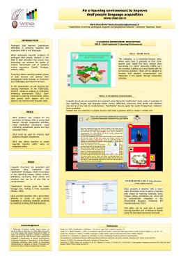 Deaf-centered E-Learning Environment