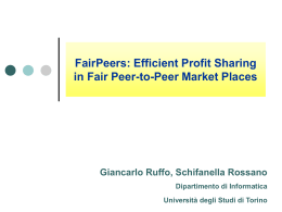 Efficient Profit Sharing in Fair Peer-to-Peer Market Places