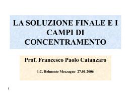 la soluzione finale e i campi di concentramento