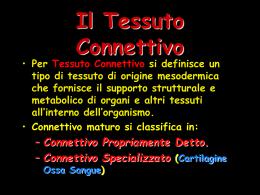 3) Tessuti Connettivi - il sito del Sommo Fabio