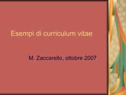 Esempi di curriculum vitae (vnd.ms