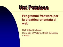 Italian Potatoes: Software Freeware per la didattica in rete