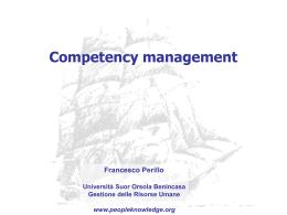 management delle competenze e pdr