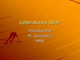 Letteratura e sport: il Novecento