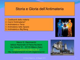 Storia e gloria dell`Antimateria (Liceo Scientifico Ettore