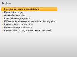 algoritmi_2d - Liceo Galileo Galilei