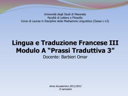Il complexe de Saint François - alfabetico dei docenti 2009