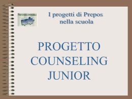 1 progetto counseling junior