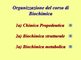 1 a Lezione - Chimica Propedeutica