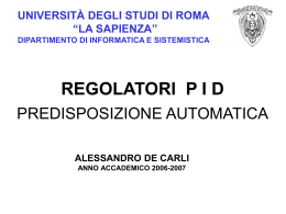 Lezione 6 - Dipartimento di Informatica e Sistemistica