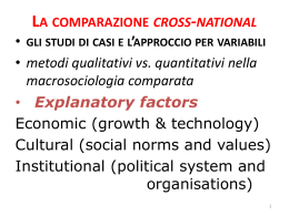 La comparazione cross-national