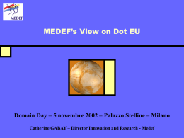 MEDEF position on .EU