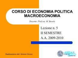 Appunti di economia politica: macroeconomia parte 5
