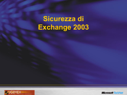Sicurezza di Exchange 2003