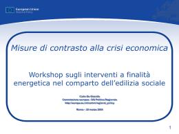 Workshop sugli interventi a finalità energetica nel comparto