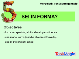 SEI IN FORMA? - linkedupiow1