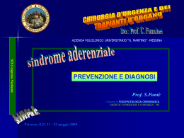 SINDROME ADERENZIALE