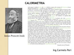 Lezione n.2 - Calorimetria
