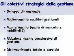 strategie di impresa - sostituisce cap 2