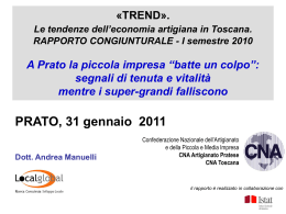 trend_rapporto2010_prato – presentazione Direzione