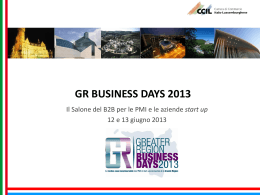 gr business days 2013 - Camera di commercio di Bergamo