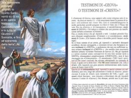 Diapositiva 1 - Testimoni di Geova