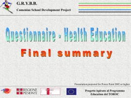 Questionnaire Health Education Final Summary