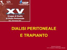 Dialisi peritoneale e trapianto Giovanni CANCARINI