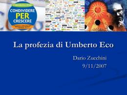 La profezia di Umberto Eco - Siti web cooperativi per le scuole