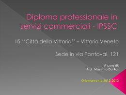 Diploma professionale in servizi commerciali - ipssc