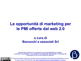 Le opportunità di marketing per le PMI offerte dal