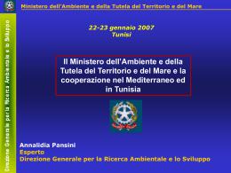 Ministero Ambiente Annalidia Pansini