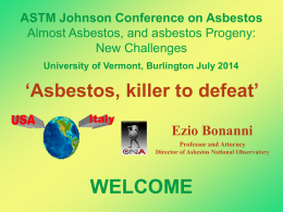 ASTM Johnson Conference on Asbestos