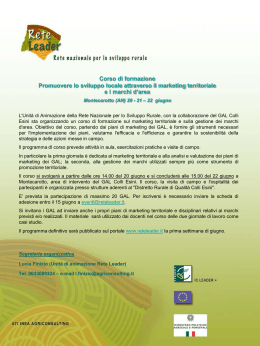 programma di massima - Euromed Carrefour Sicilia