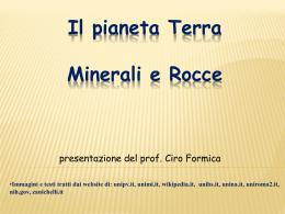 Terra, minerali e rocce