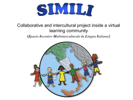 SIMILI: collaborative and intercultural project inside a virtual learning