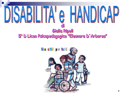 HANDICAP E DISABILITA`