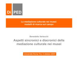 La mediazione culturale nei musei: modelli di ricerca sul campo