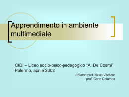 Apprendimento in ambiente multimediale