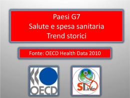 G7-Salute e spesa sanitaria-Trend Storici