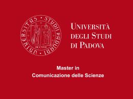 Master in Comunicazione delle Scienze