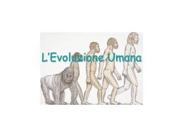 L`Evoluzione Umana