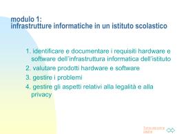 2. Valutazione hardware e software