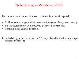 Scheduling in Linux e Windows - ICAR-CNR