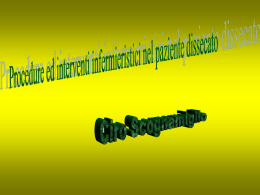 Procedure ed interventi infermieristici nel paziente - Area-c54