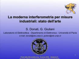 interferometria laser - Università degli Studi di Pavia