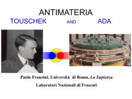 """Conferenza: """"L`antimateria"""""""